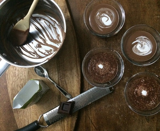 Two layers Vegan Chocolate Soy Cream Pudding