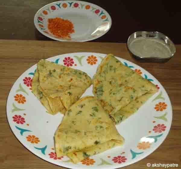 Moong dal and chana dal dosa, dose or dosai recipe - how to make split green grams and split bengal grams pancake - Bachelors recipe