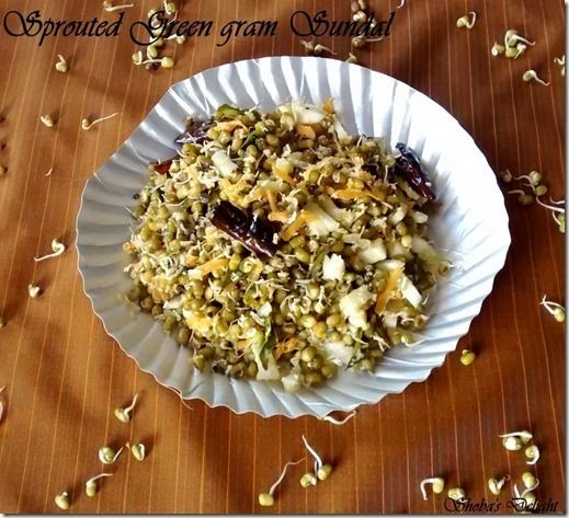 Sprouted Green gram Sundal–Navarathri Recipes (Day 7)