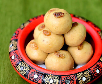 Easy Atta Ladoo Recipe - Wheat Flour Laddu