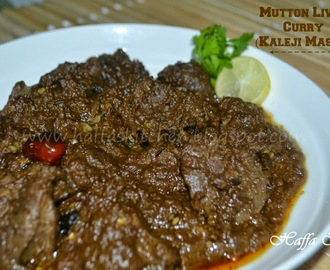 Mutton Liver Curry - Kaleji Masala