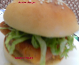 Paneer Burger with Eggless Burger Buns and  Strawberry Jam with Eggless Butterless Wholewheat Flaxmeal Dinner Rolls - A Combo Post