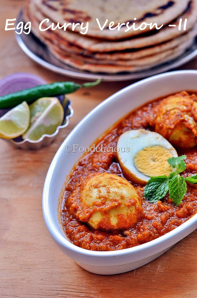 Egg Curry Version II and Eggless Sheermal Made In Tandoor; Step Wise