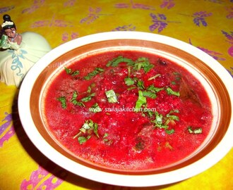 Beetroot Kurma / Beetroot Korma Recipe