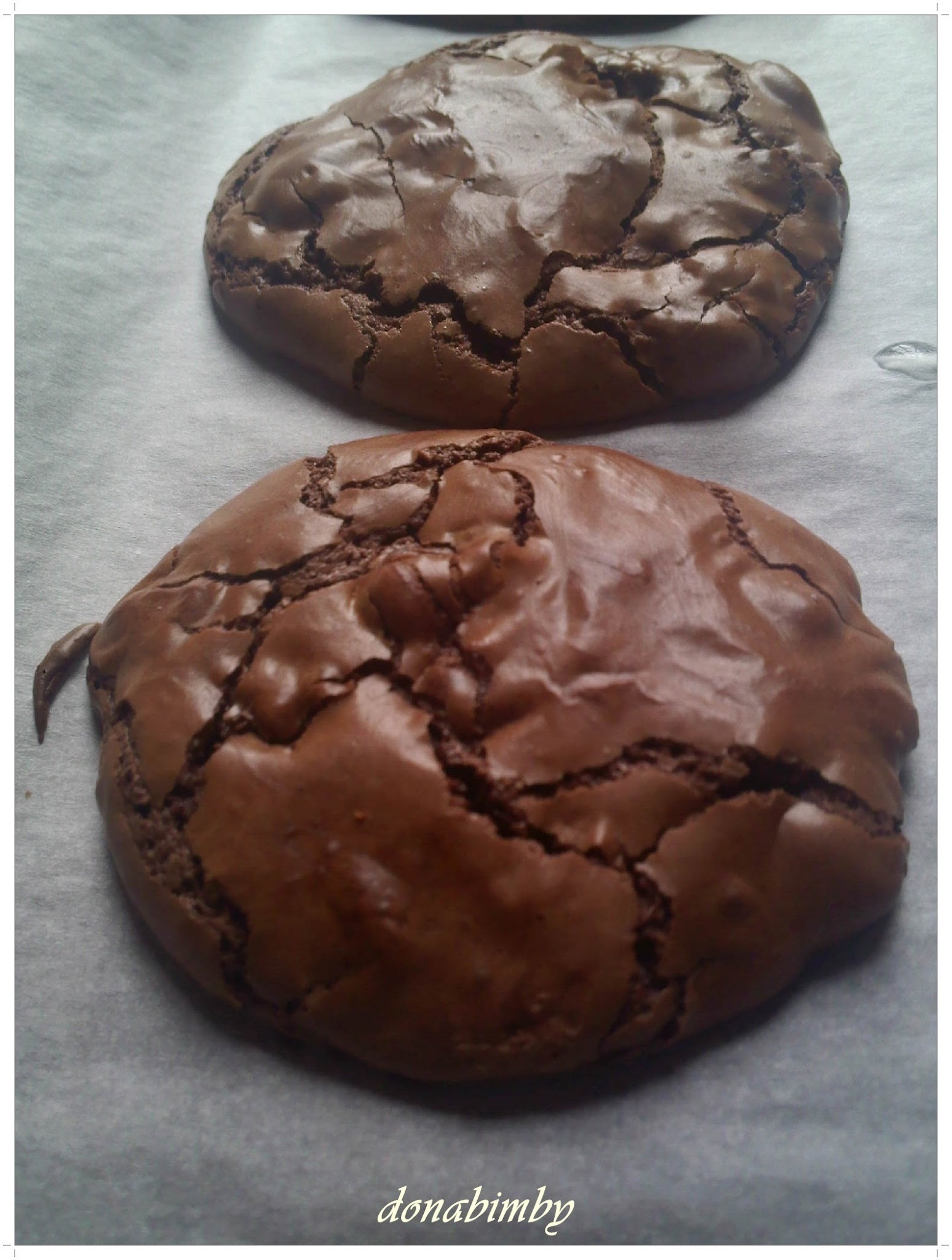 Cookies brownie de chocolate