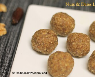 Nuts & Dates Balls |Nuts & Dates Ladoo | Nuts & Dates Laddu