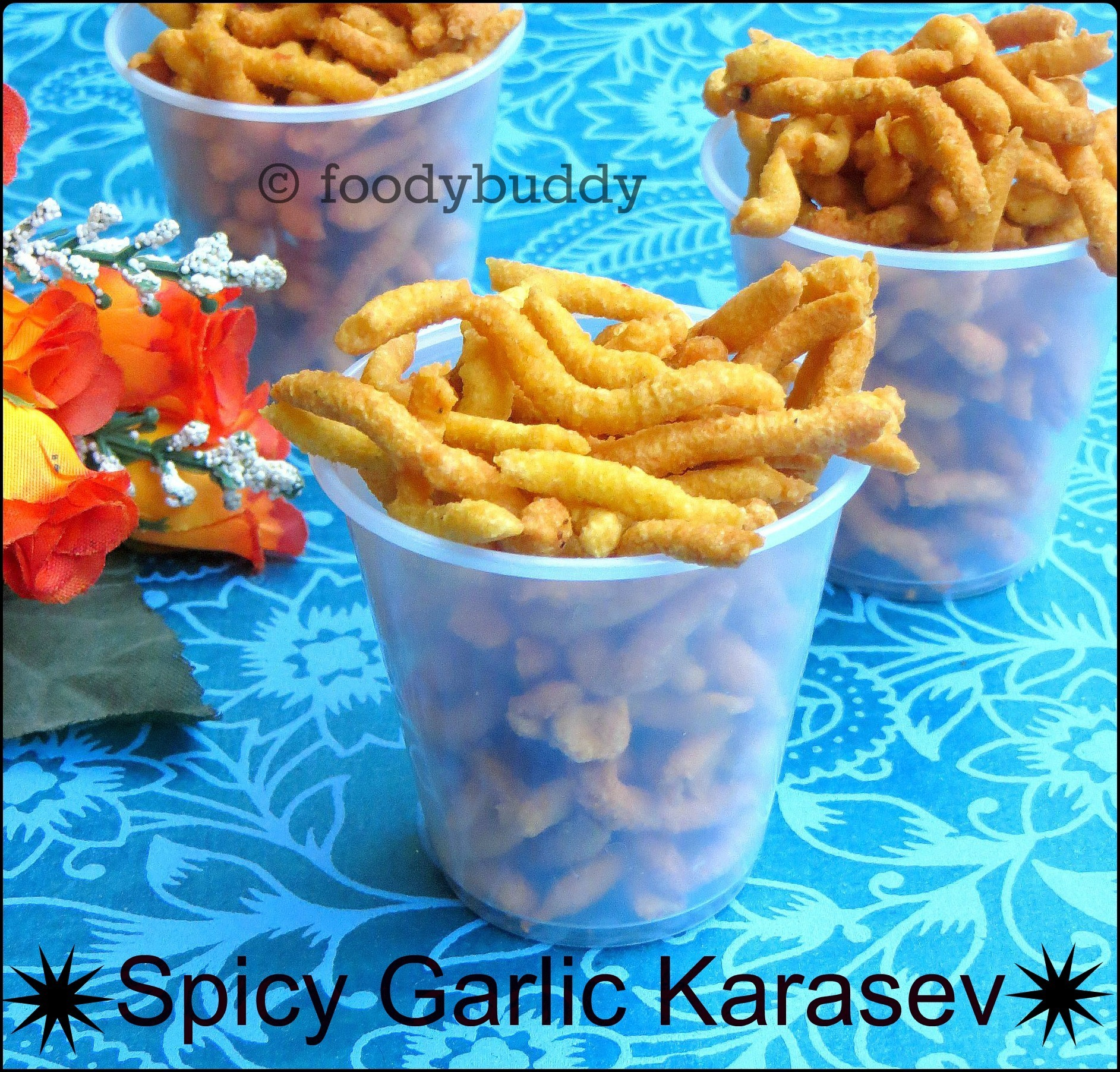 Spicy Garlic Karasev Recipe / Easy Diwali Snack