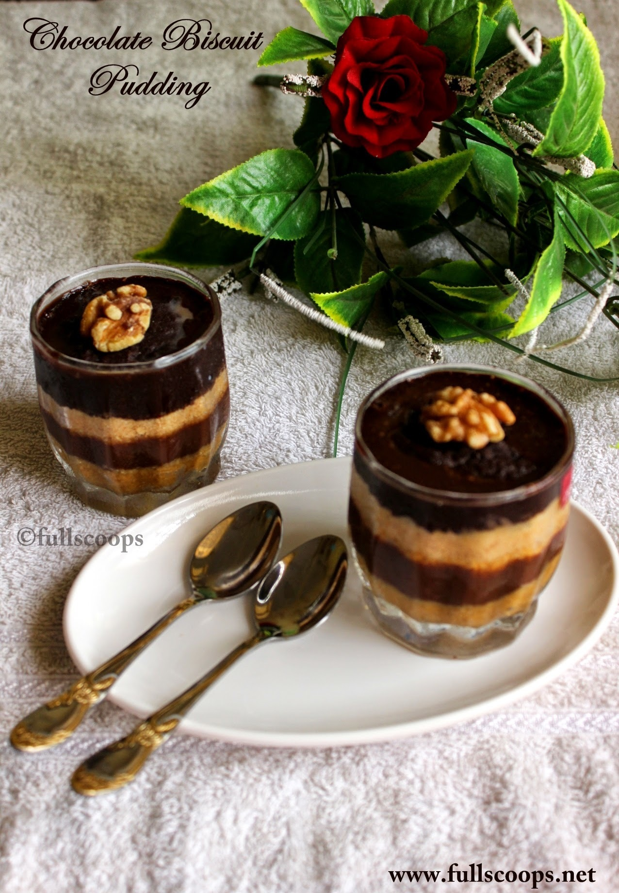 Chocolate Biscuit Pudding | Easy No Bake Recipes