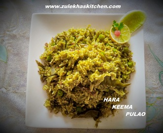 Recipe of Hara Mutor Keema Rice |Green Mutton Mince Rice | Hara Keema Rice