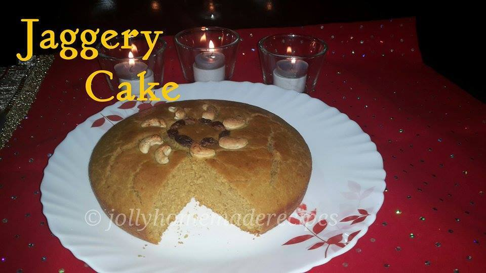 Jaggery Cake Recipe, How to make Vegan Whole Wheat Jaggery Cake Recipe