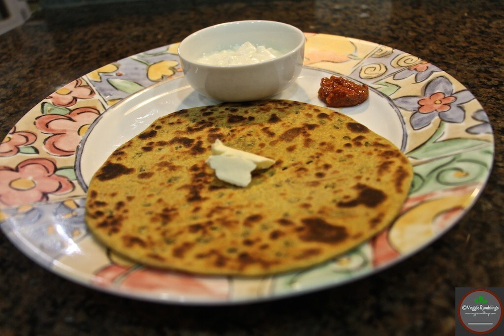 Moong Dal Stuffed Paratha ( Flat breads stuffed with awesome spiced Moong Dal mélange)