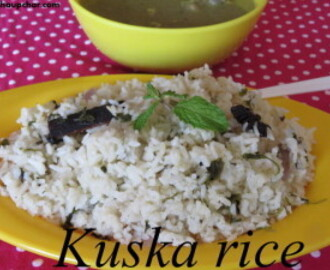 Kuska rice recipe I plain biryani