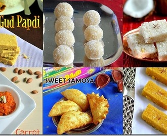 12 EASY DIWALI SWEETS RECIPES/INDIAN DEEPAVALI SWEETS