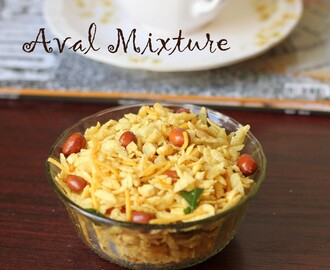 Aval Mixture | Poha Chivda | Poha Mixture Recipe