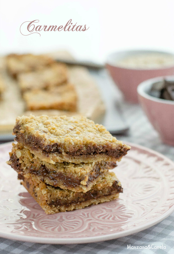Carmelitas (galletas de avena, chocolate y toffe)