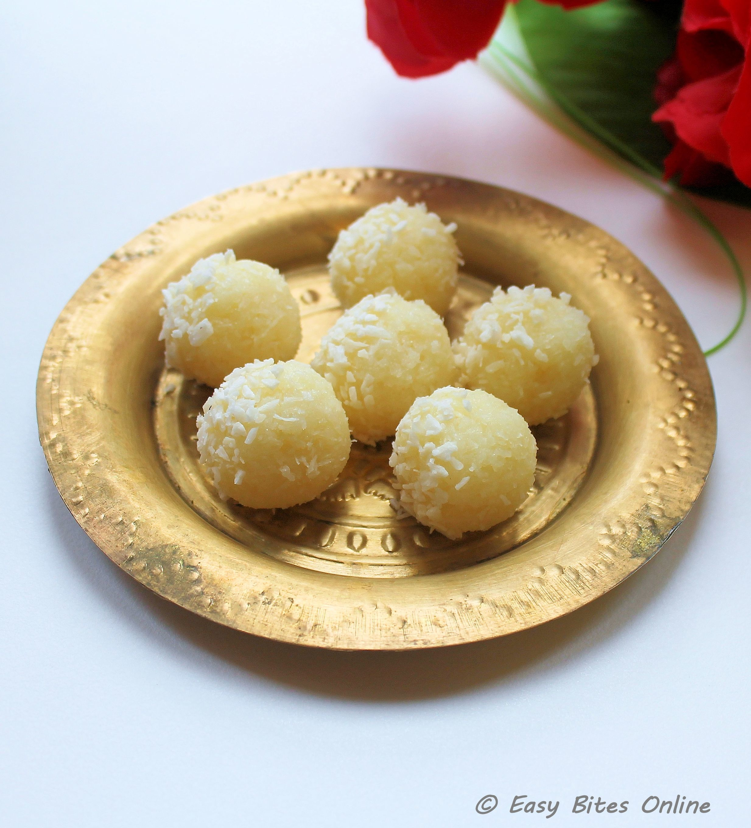 3 Minute Coconut Laddu for Diwali