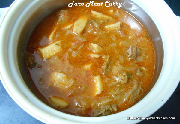Hyderabadi Arvi Curry Recipe,Taro Curry