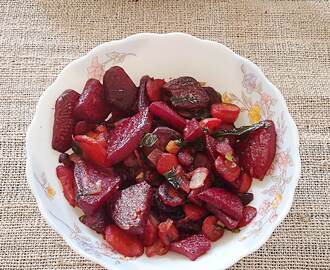 Stir fry beets and carrots paleo recipe – A delicious recipe of beets and carrots stir fried in coconut oil