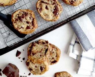 shortbread con chunks de chocolate y manteca salada | the cookie that broke the internet