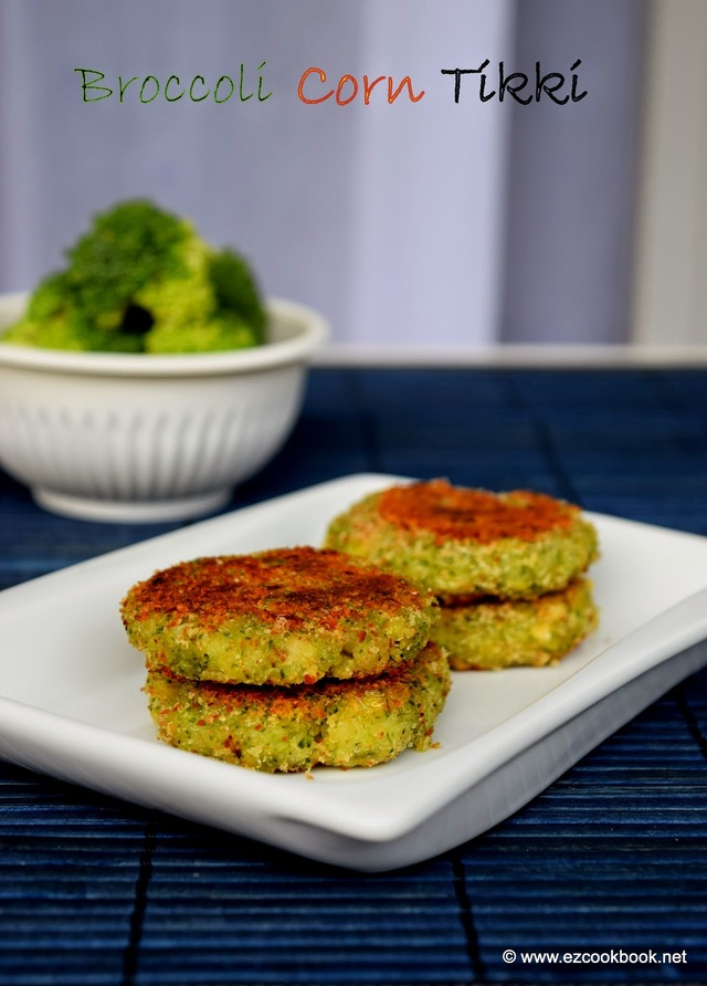 Broccoli & Corn Tikki | Easy Indian Snack Recipe