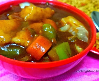 Paneer and Veggies in Hot Garlic Sauce (Cottage cheese and Veggies in Hot Garlic Sauce)
