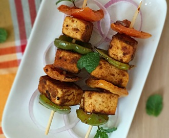 TOFU KEBABS | Easy Party Starter | How to make TOFU KEBABS | Stepwise Pictures | Glutenfree Recipe