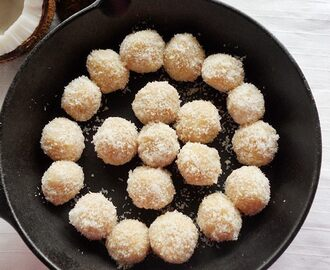 Easy Coconut Ladoo With Condensed Milk