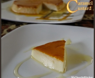 Eggless Caramel Custard  (Steamed dessert)