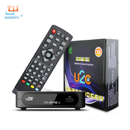 U2C DVB-T Smart TV Box HDMI DVB-T2 T2 STB H.264 HD TV Digital Terrestrial Receiver DVB T/T2 Set-top Boxes Free Tv Russia