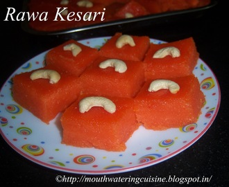 Rava Kesari Recipe -- How to make Rava Kesari -- Easy Sweet Recipes