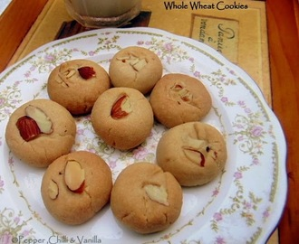 Whole Wheat Cookies/Eggless Whole Wheat Cookies.