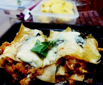 Pineapple curry lasagna