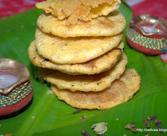 Sajjappa - a traditional dessert from my home town to celebrate the festival of lights