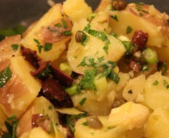 Potato Salad With Capers, Kalamata Olives and Artichoke Hearts