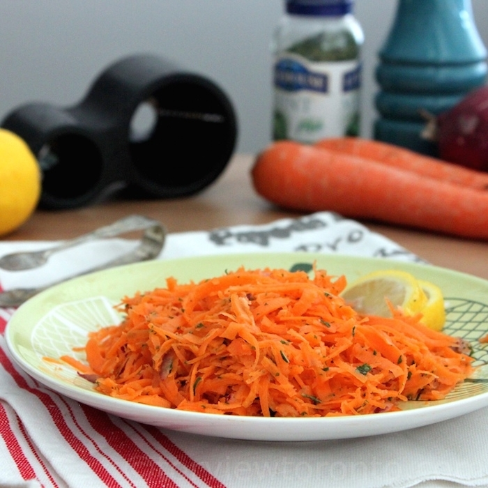 Carrot Salad using the Microplane Spiral Cutter