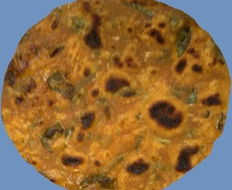 Indian bread with Fenugreek leaves - Methi Roti
