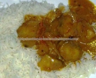 Karanai kizhangu Puli Kulambu / Yam Ordinary Curry