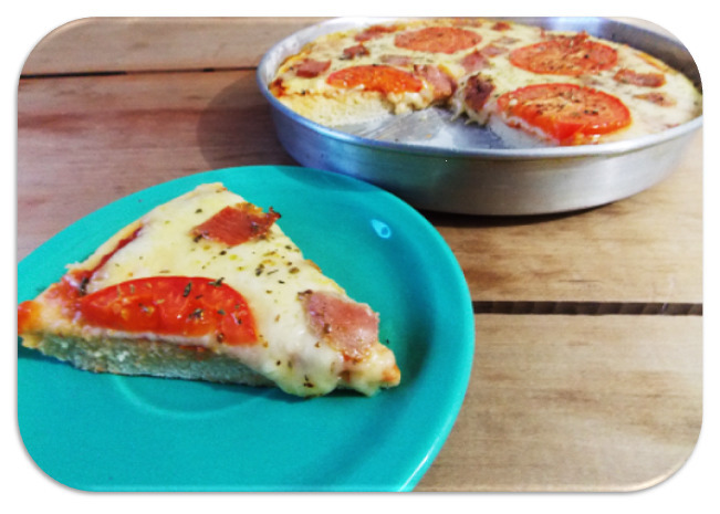 Pizza de Mussarela Com Bacon [Massa Igual da Pizza Hut]