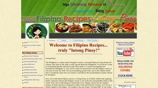 Filipino Recipes. Mga Lutong Pinoy