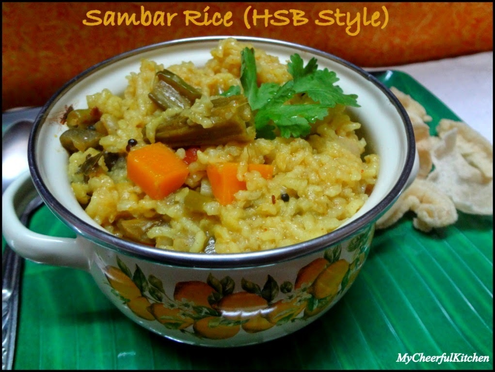 Sambar Rice (A comforting one pot meal in Hotel Saravana Bahvan Style)