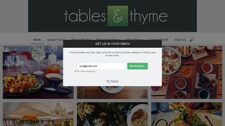 Welcome to Tables & Thyme