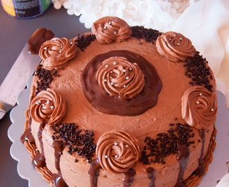 Chocolate Birthday Cake with Whipped Chocolate Buttercream