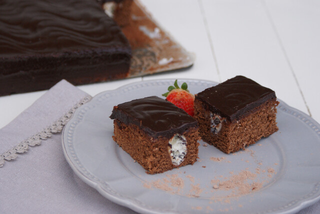 ♥ Tarta brownie de queso y chocolate
