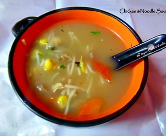 Chicken and Noodle Soup Recipe/No oil Diet Soup Recipe