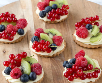 Fruittaart koekjes met cream cheese