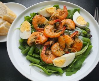 Spicy garlic shrimp in butter
