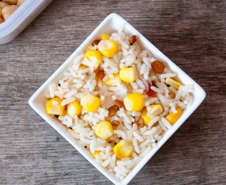Sweet Corn Rice - Kids Lunch Box recipe