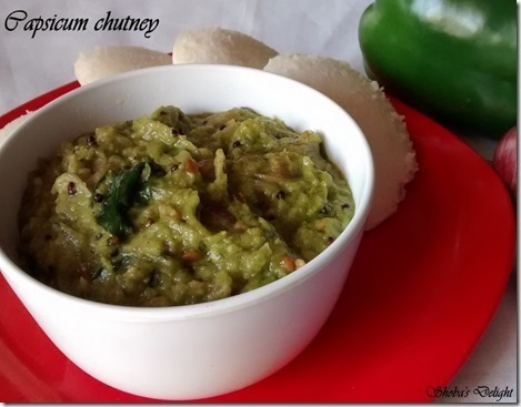 Capsicum (Green pepper) chutney