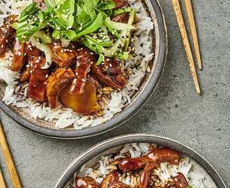 Sticky pork hoisin