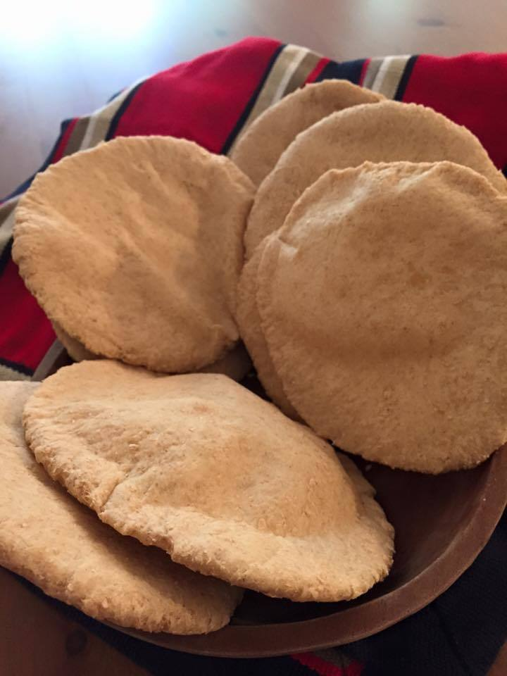 Pan pita integral, receta chilena